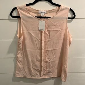 NWT Calvin Klein light pink shell top